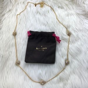 Kate Spade Gold Long Chain Diamond Necklace